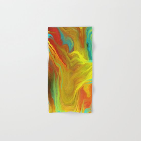AGATE ABSTRACT OIL PAINTING Hand & Bath Towel