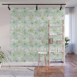 Cannabis Leaf (White Glow) - Grass Wall Mural
