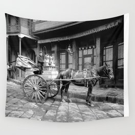 New Orleans milk cart Wall Tapestry