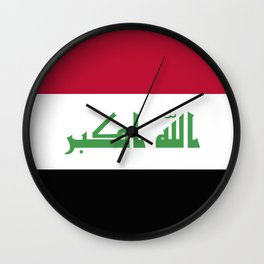 Iraq flag emblem Wall Clock