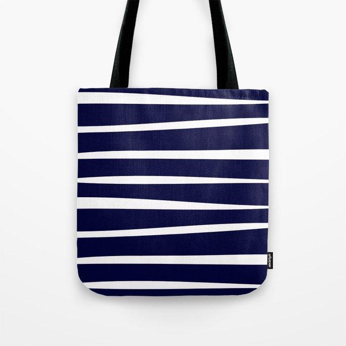 Blue- White- Stripe - Stripes - Marine - Maritime - Navy - Sea - Beach - Summer - Sailor 4 Tote Bag