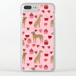 Great Dane valentines day cupcakes love hearts dog gifts must have pure breed great danes dog patter Clear iPhone Case