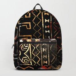 Golden Mud Cloth Backpack