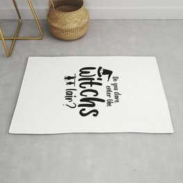 Do You Dare Enter The Witchs Lair? Halloween Quote Art  Rug