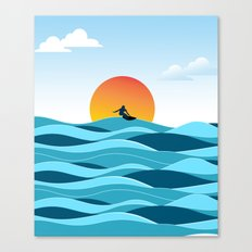 Surfing 1 Canvas Print