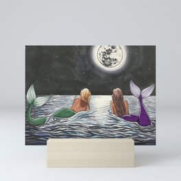 Mermaid Moon Mini Art Print