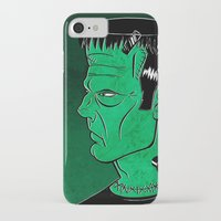 frankenstein iPhone & iPod Cases featuring Frankenstein by JoanaRosaC