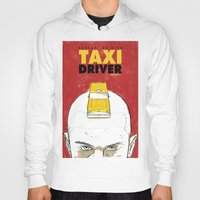 taxi driver Hoodies featuring Taxi Driver by Matthew Bartlett