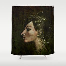 The Bride of Glass Blossoms Shower Curtain