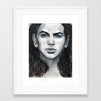 eddie vedder Framed Art Prints featuring Vedder by Emily Morris