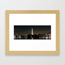 Washington Monument at Night Framed Art Print