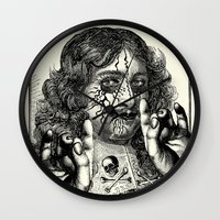 heavy metal Wall Clocks featuring HEAVY METAL I by DIVIDUS