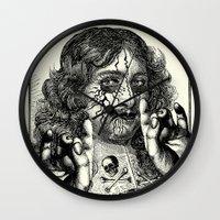 heavy metal Wall Clocks featuring HEAVY METAL I by DIVIDUS DESIGN STUDIO