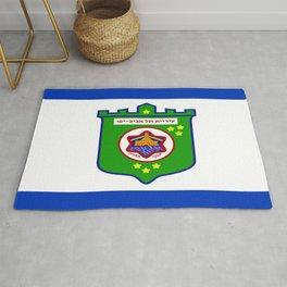 flag of tel aviv Rug