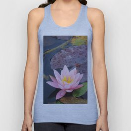Pink water lily flower Unisex Tank Top