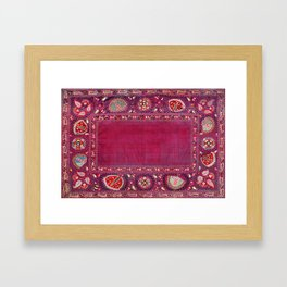 Shakhrisyabz  Southwest Uzbekistan Suzani Embroidery Print Framed Art Print