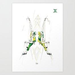 Gutsy Gemini Art Print