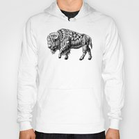 bison Hoodies featuring Bison by BIOWORKZ