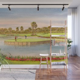 Sawgrass Golf Course 17th Green Putting Out Wall Mural