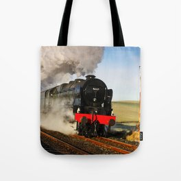 46115 Scots Guardsman Steaming Through Hellifield Tote Bag
