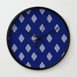 Pattern I Navy Wall Clock