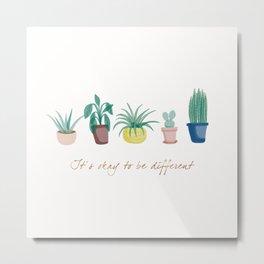 Indoor plants and quote Metal Print