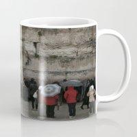 palestine Mugs featuring Jerusalem Palestine by Sanchez Grande