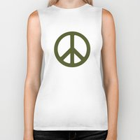 army Biker Tanks featuring ARMY by Sophie