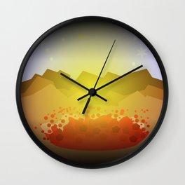Icelandic volcano Wall Clock