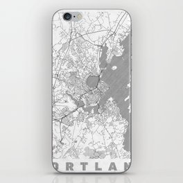 Portland Maine Map Line iPhone Skin
