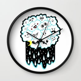 Cloudy and Rainy Nights Wall Clock