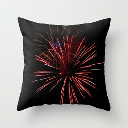 Sparse Double Burst Throw Pillow
