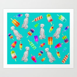 WEIMS AND POPSICLES Art Print