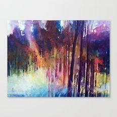 Lampi di luce nella foresta Canvas Print