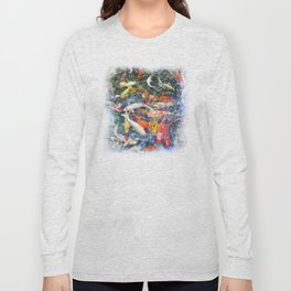 Koi Carp Splash Long Sleeve T-shirt