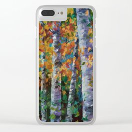 Birch trees - 1 Clear iPhone Case