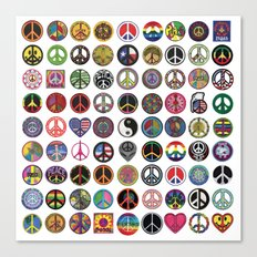 PEACE PATCH COLLECTION (white) Canvas Print