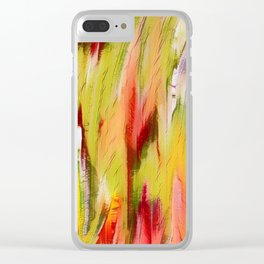 Abstract vivacious Clear iPhone Case
