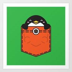Pocket Penguin Art Print