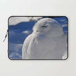 Snowy in the Snow by Teresa Thompson Laptop Sleeve