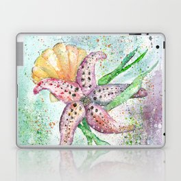 Starfish Watercolor Art Illustration Laptop & iPad Skin