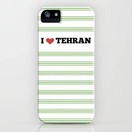 I Love Tehran iPhone Case
