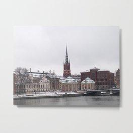 Stockholm Winter Metal Print