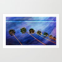palms Art Prints featuring Palms by Psocy Shop