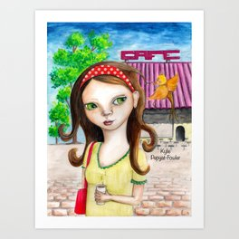 Cafe Express by Kylie Fowler Art Print