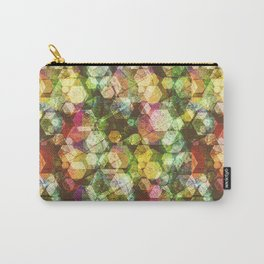 Multi-colored hexagons Carry-All Pouch