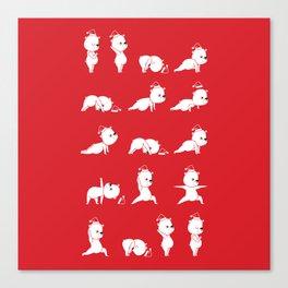 Yoga Bear - Polar Bear Canvas Print