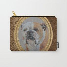Vintage Lady. English Bulldog bitch portrait Carry-All Pouch