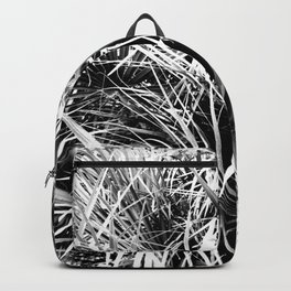 Palm Fronds In Black and White Abstract Photography Backpack