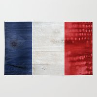 france Area & Throw Rugs featuring France by Arken25